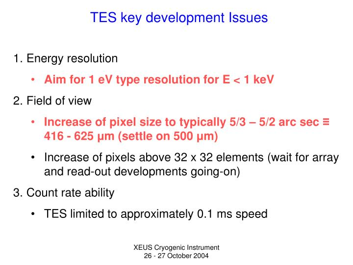 tes key development issues n.