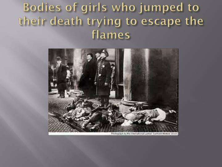 Bodies of girls who jumped to their death trying to escape the flames