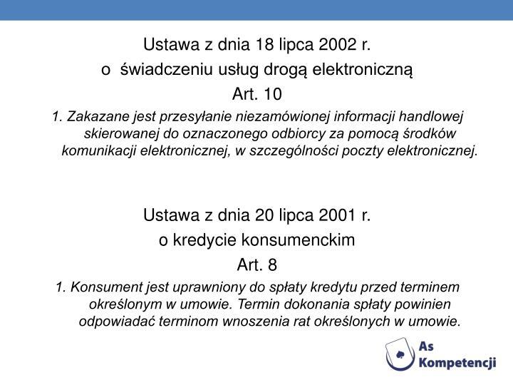 Ustawa z dnia 18 lipca 2002 r.