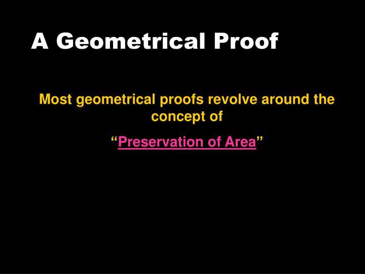 A Geometrical Proof