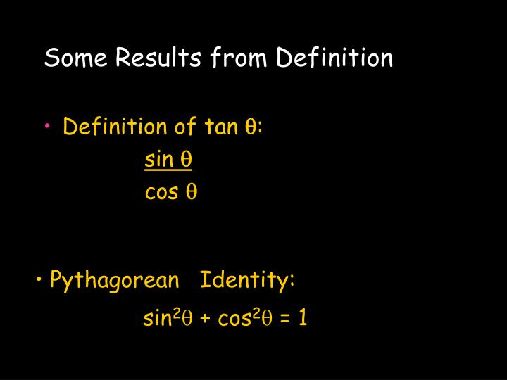 Some Results from Definition