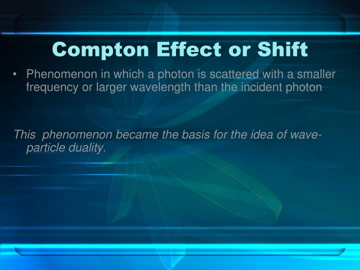 Compton Effect or Shift