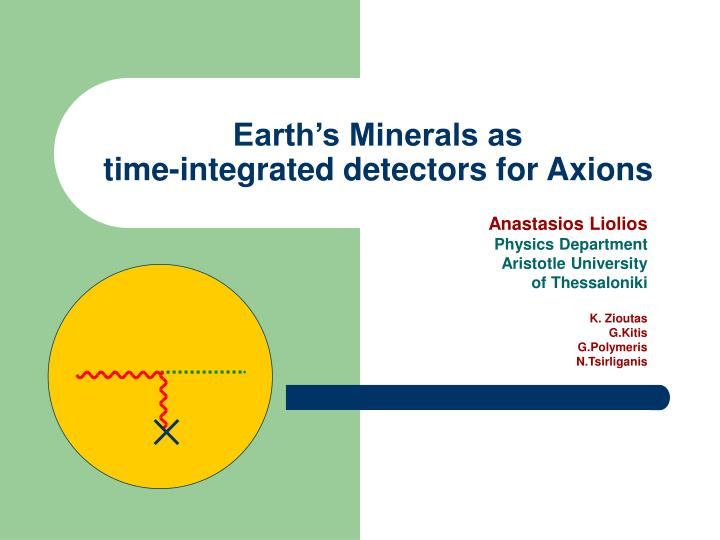 Earth s minerals as time integrated detectors for axions