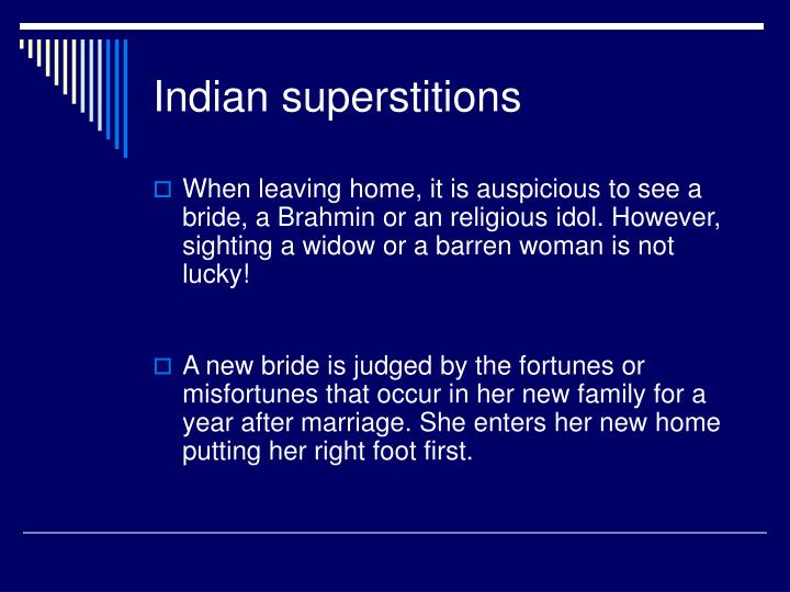 superstitions and india