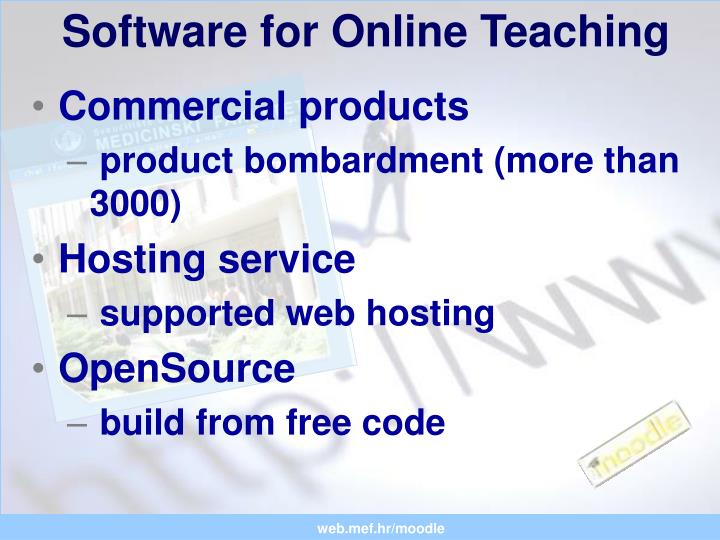 Software for Online Teaching
