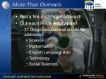 more than outreach