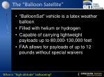 the balloon satellite