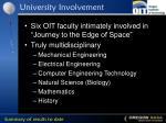 university involvement