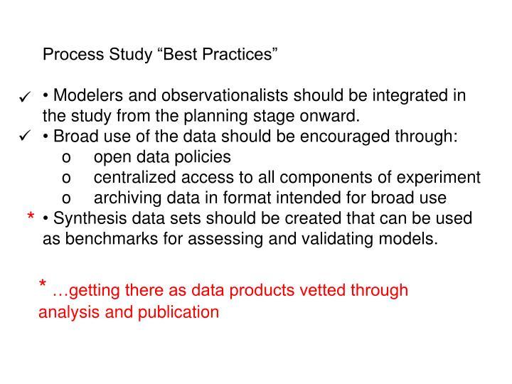 "Process Study ""Best Practices"""