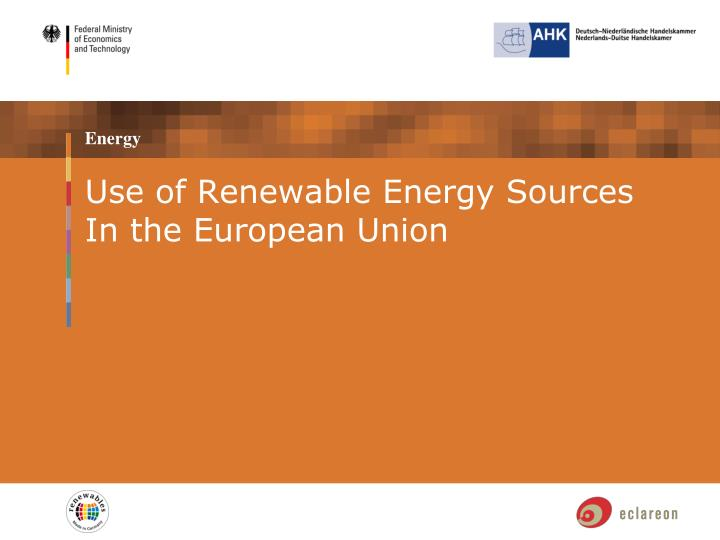 Use of Renewable Energy Sources In the European Union
