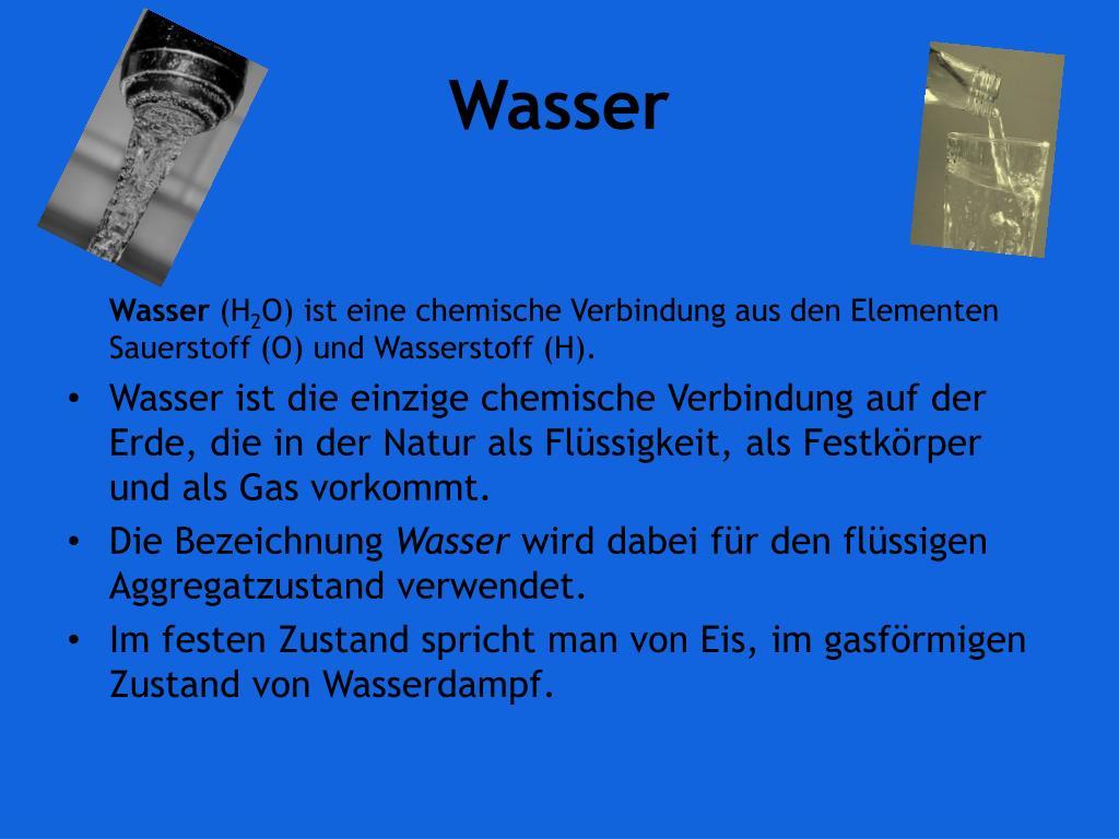 Chemische Bezeichnung Wasser