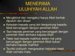 menerima uluhiyah allah