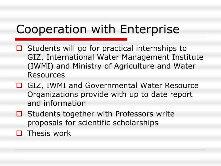 Cooperation with Enterprise