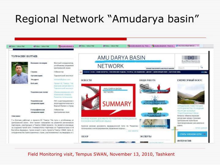 """Regional Network """"Amudarya basin"""""""