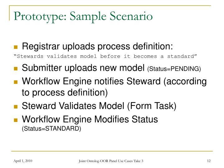 Prototype: Sample Scenario