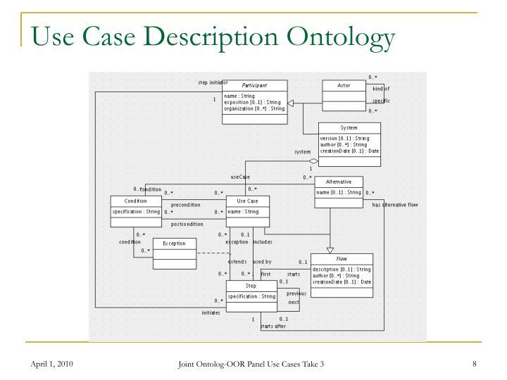 Use Case Description Ontology