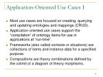 application oriented use cases i