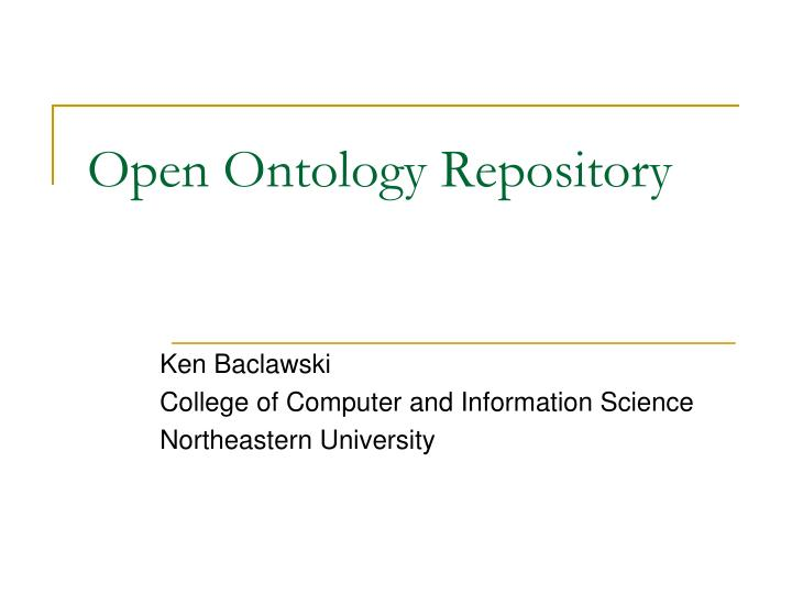 open ontology repository n.