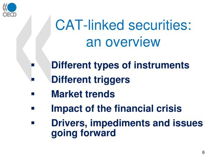 CAT-linked securities: