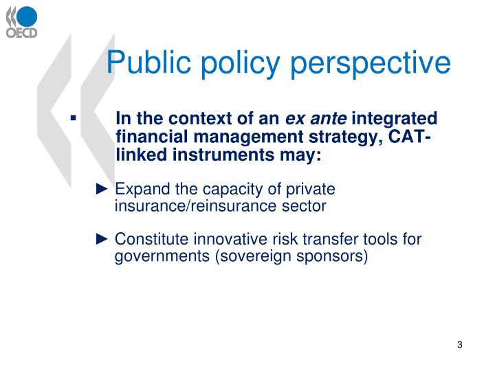 Public policy perspective