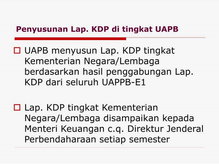 Penyusunan Lap. KDP di tingkat UAPB