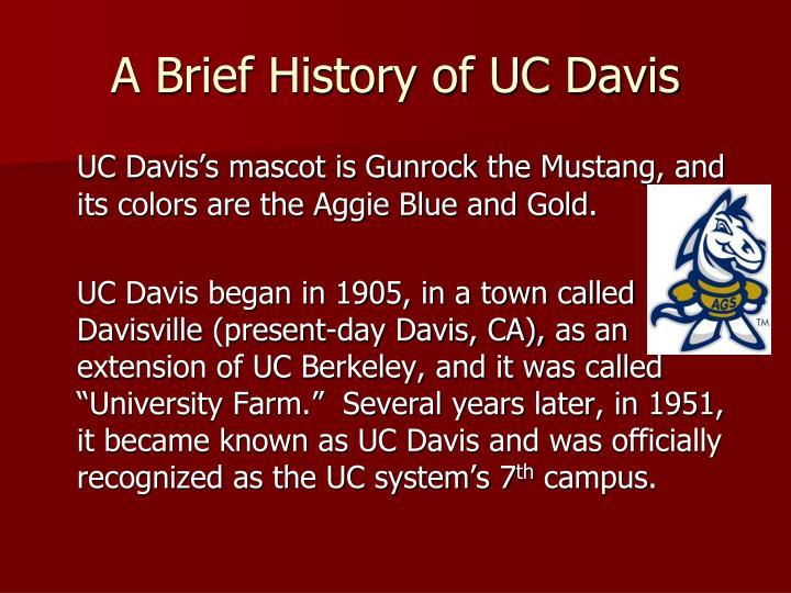 A Brief History of UC Davis
