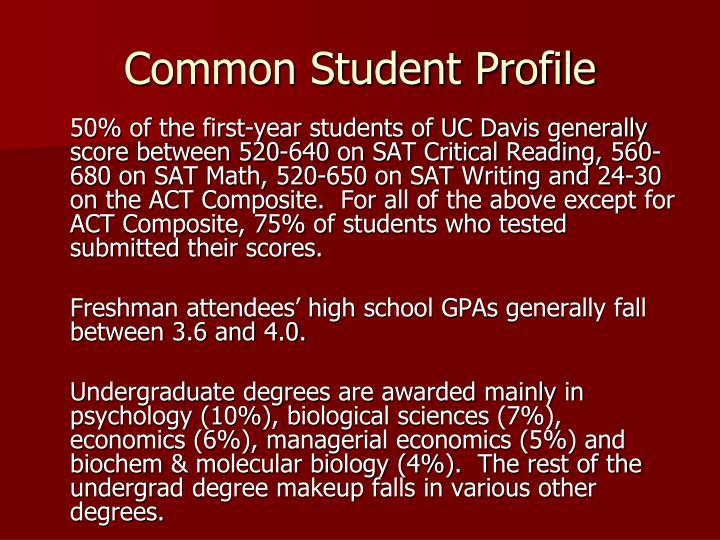 Common Student Profile