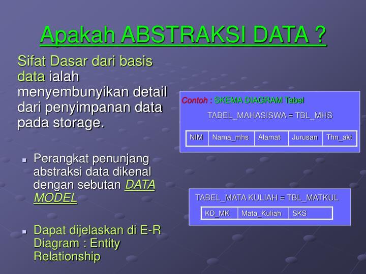 Apakah ABSTRAKSI DATA ?