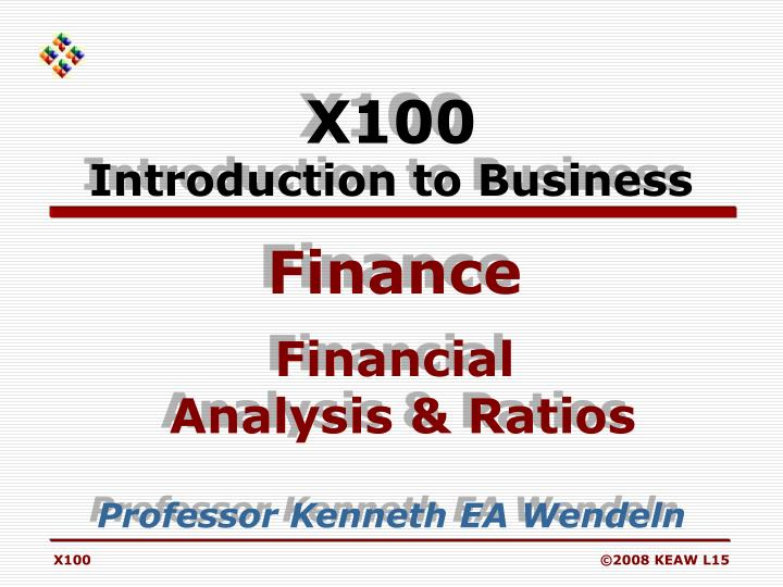 x100 introduction to business n.