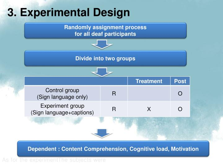 3. Experimental Design