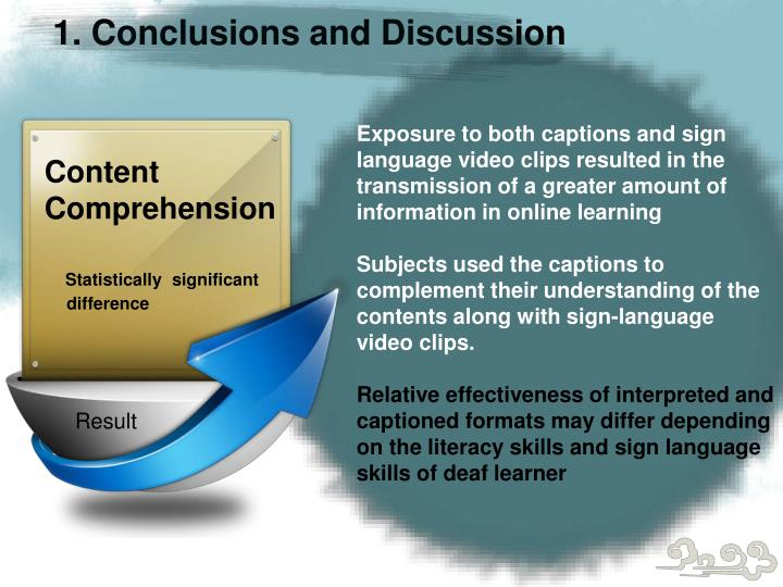 1. Conclusions and Discussion