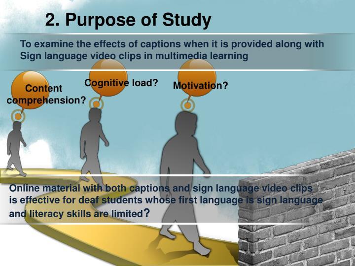 2. Purpose of Study