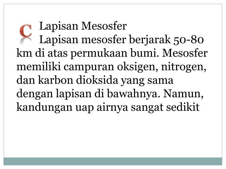 Lapisan Mesosfer