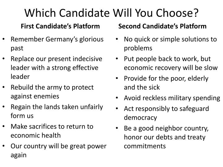 which candidate will you choose n.