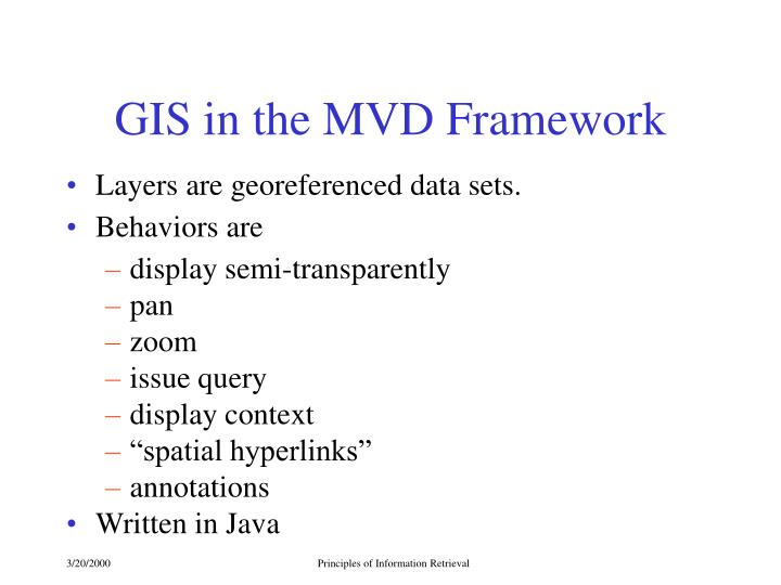 GIS in the MVD Framework