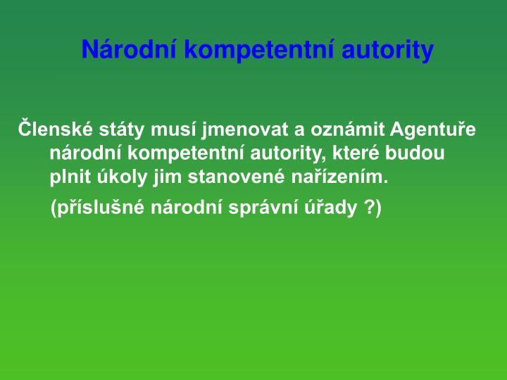 Národní kompetentní autority