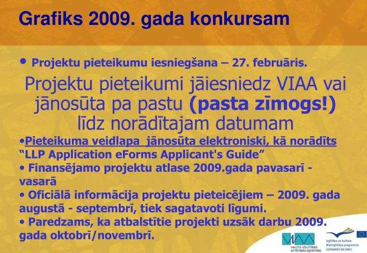 Grafiks 2009. gada konkursam