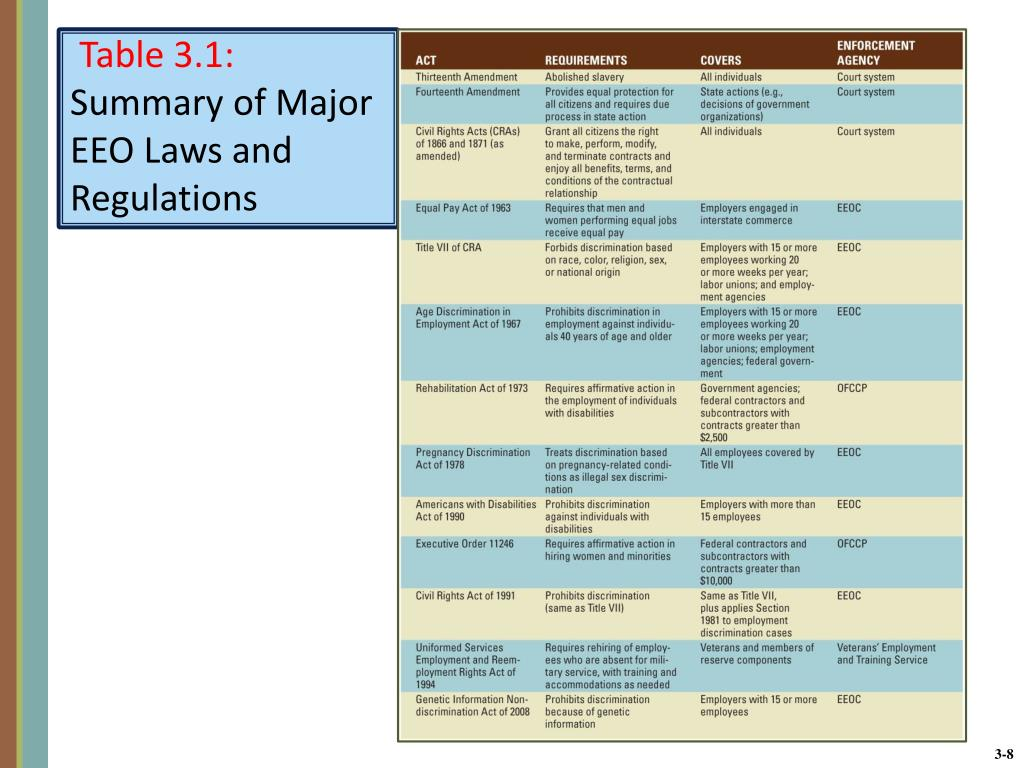 PPT - CHAPTER 3 Providing Equal Employment Opportunity and a
