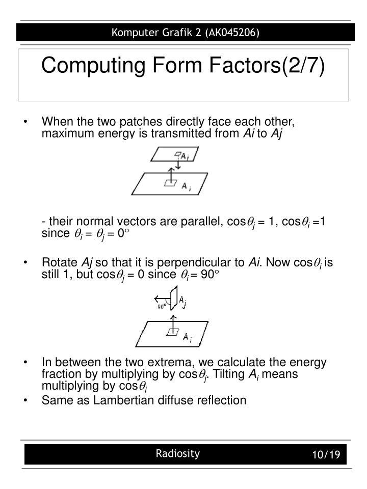 Computing Form Factors(2/7)