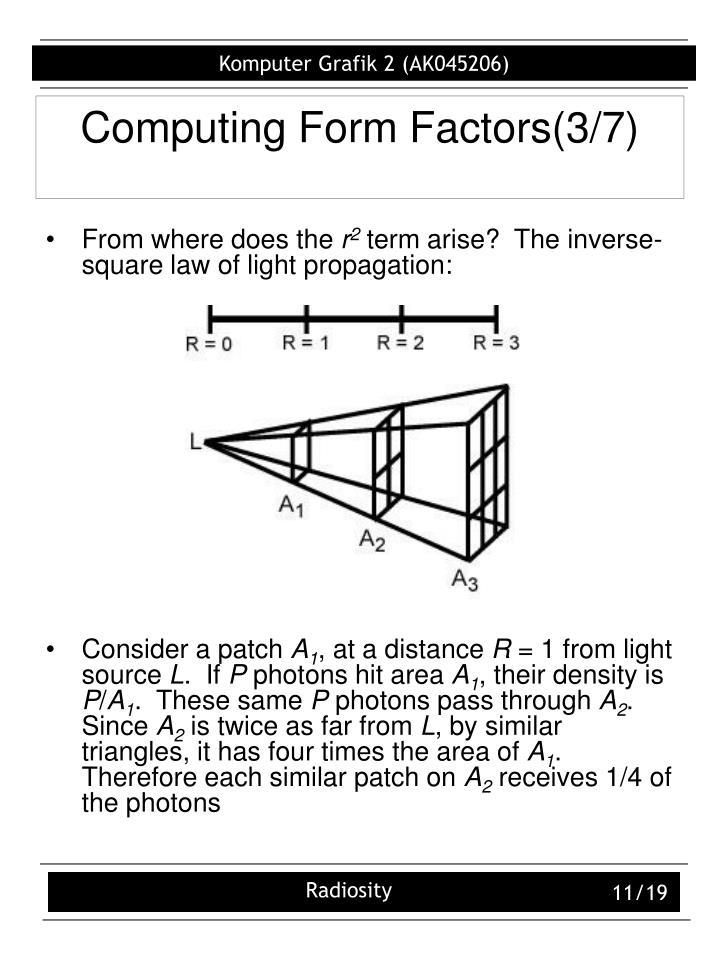 Computing Form Factors(3/7)