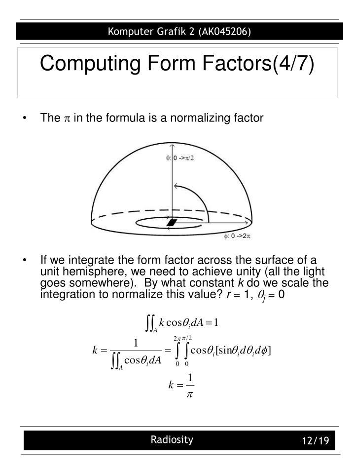 Computing Form Factors(4/7)