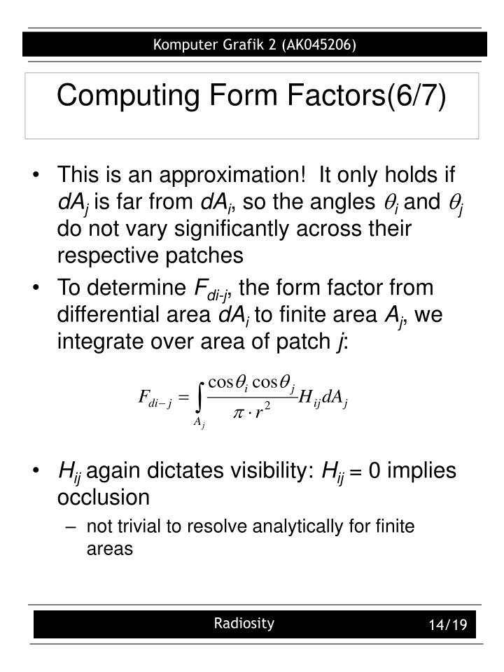 Computing Form Factors(6/7)