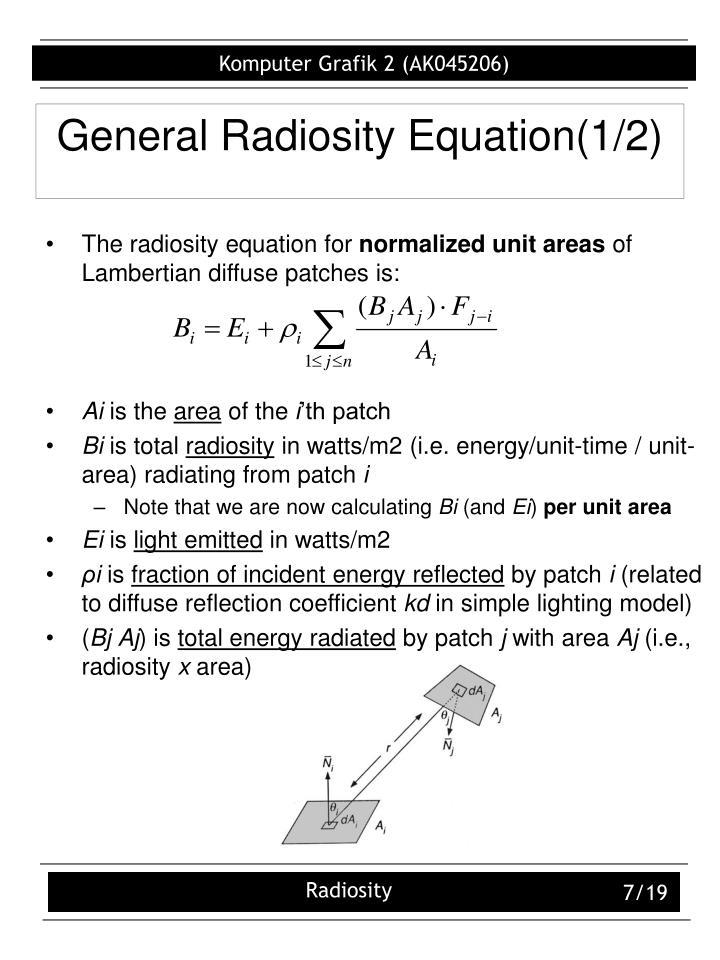 General Radiosity Equation(1/2)