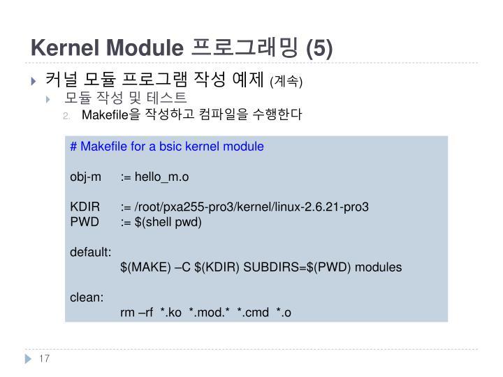 Kernel Module