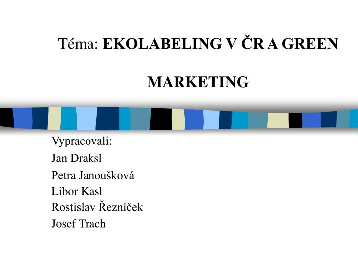 T ma ekolabeling v r a green marketing