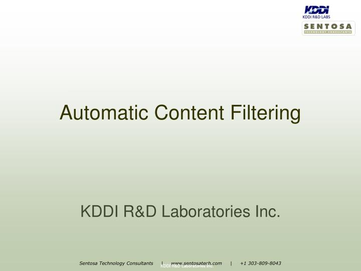 automatic content filtering n.
