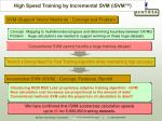high speed training by incremental svm isvm