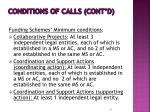 conditions of calls cont d2
