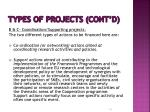 types of projects cont d1