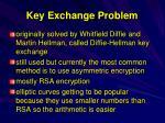 key exchange problem